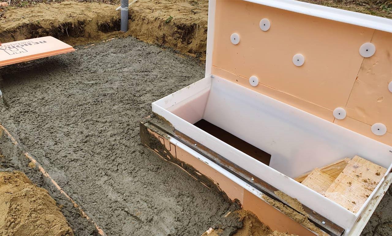 Утепление верха погреба